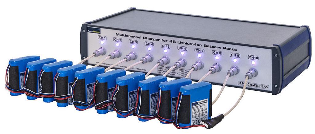 Mehrkanalladestation für 1S - 5S Li-Ion / Li-Po Akkus Accupower