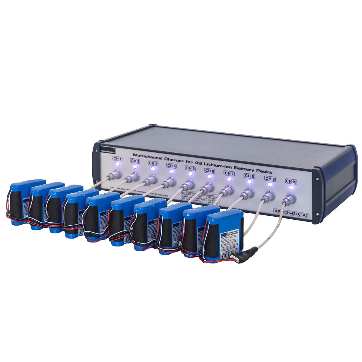 AccuPower 10-Kanal Ladestation für 1S bis 5S Li-Ion oder Li-Poly Akkupacks