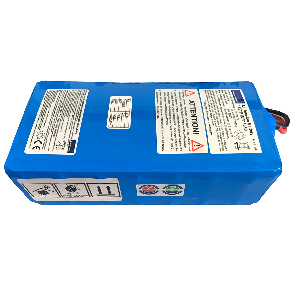 AccuPower Lithium Akku 14S7P 51,1V 20Ah 1019.46Wh
